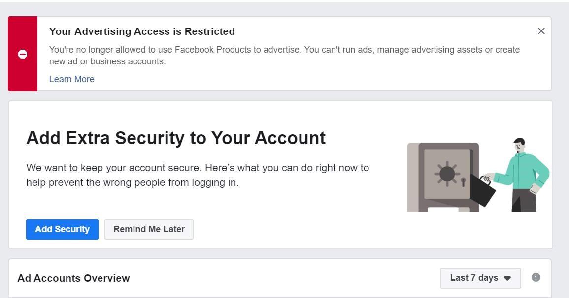 Facebook Restricted